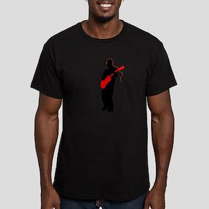 headphones Men's Fitted T-Shirt (dark)