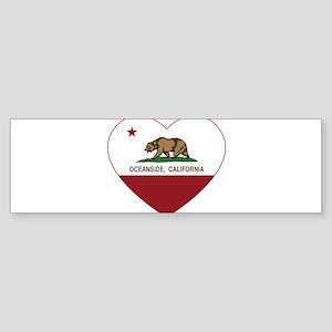 california flag oceanside heart Bumper Sticker