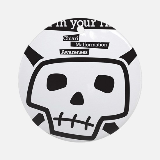 skull-back Round Ornament