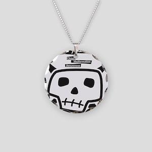 skull-back Necklace Circle Charm