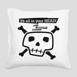 skull-back Square Canvas Pillow