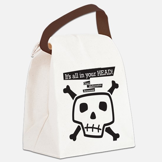 skull-back Canvas Lunch Bag