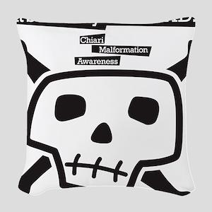 skull-back Woven Throw Pillow