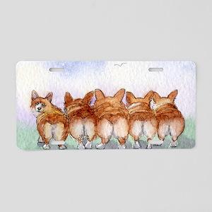 Five walk away together nar Aluminum License Plate