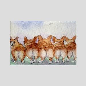 Five walk away together narrower Rectangle Magnet