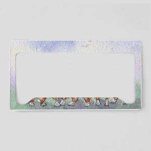 Five walk away together narro License Plate Holder