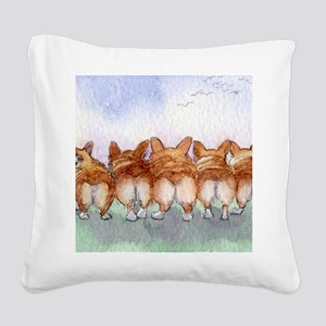 Five walk away together wider Square Canvas Pillow