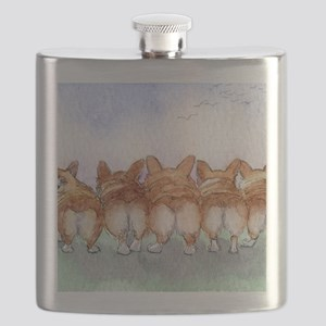 Five walk away together wider Flask