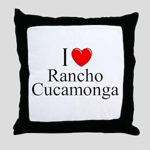 """I Love Rancho Cucamonga"" Throw Pillow"
