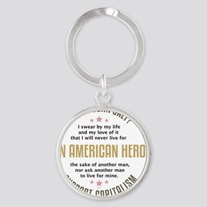 april11_john_galt_hero_2 Round Keychain