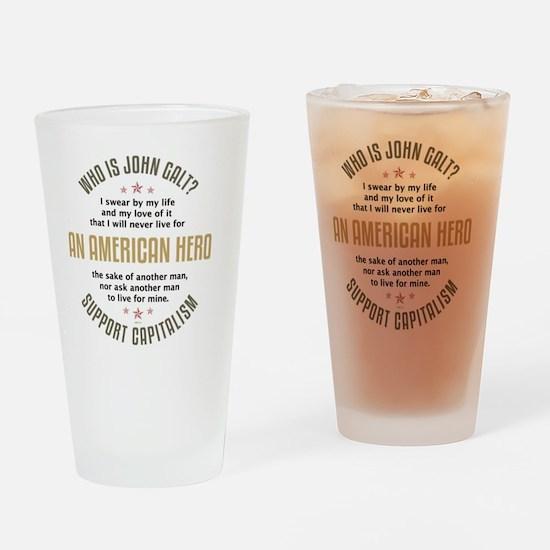 april11_john_galt_hero_2 Drinking Glass