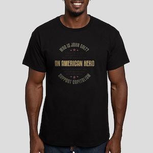 april11_john_galt_hero Men's Fitted T-Shirt (dark)