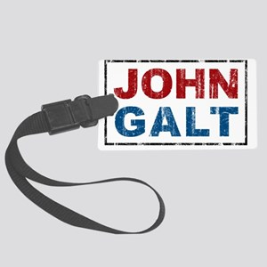 april11_johngalt_color Large Luggage Tag
