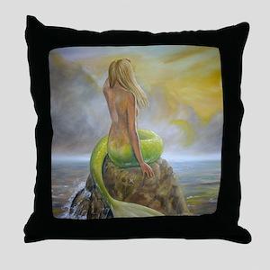 mermaids perch Throw Pillow