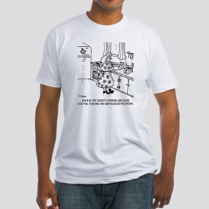 8715_toaster_cartoon Fitted T-Shirt