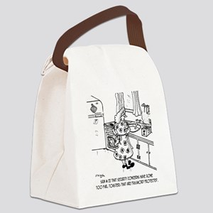 8715_toaster_cartoon Canvas Lunch Bag