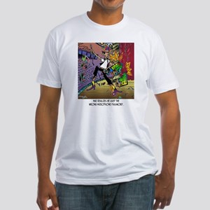 8716_singer_cartoon Fitted T-Shirt