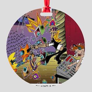 7567_audio_cartoon Round Ornament