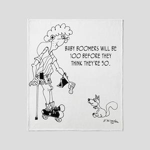 4100_boomer_cartoon Throw Blanket