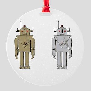 I Like Big Bots White Round Ornament