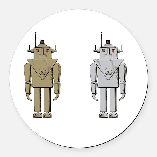 I Like Big Bots White Round Car Magnet