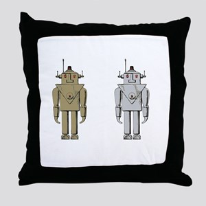 I Like Big Bots White Throw Pillow