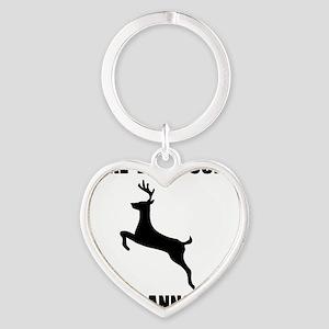 I Like Big Bucks Black Heart Keychain