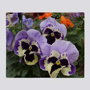 Happy Pansy Trio Throw Blanket