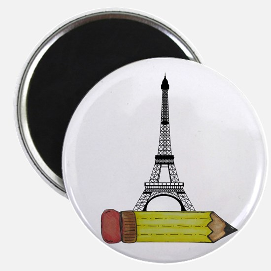 Pencil and EIffel Tower Magnets