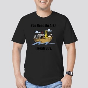 Noah Ark Black Men's Fitted T-Shirt (dark)