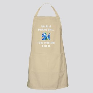 Seafood Diet White Apron
