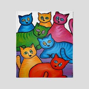 onecattwocat1 Throw Blanket