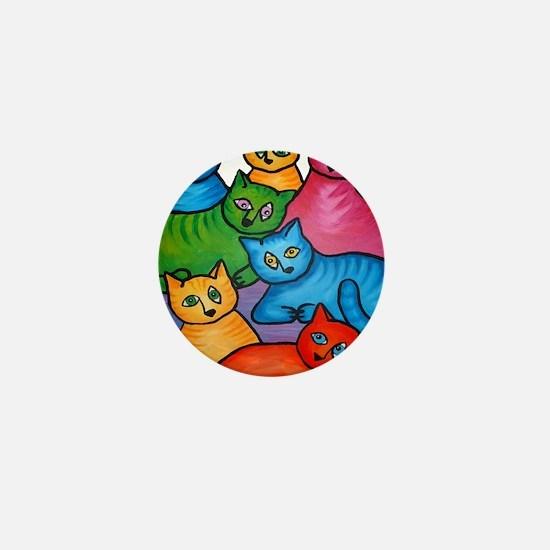 onecattwocat1 Mini Button