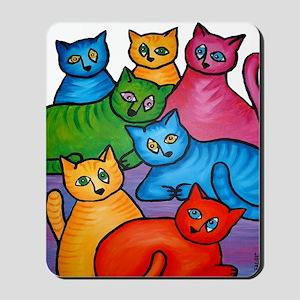 onecattwocat1 Mousepad