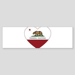 california flag pasadena heart Bumper Sticker