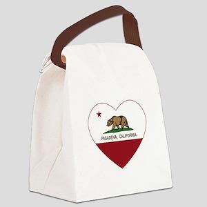 california flag pasadena heart Canvas Lunch Bag