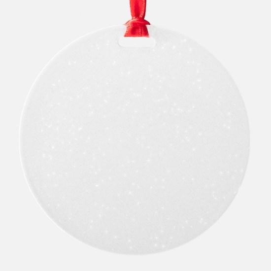 My ADD White Round Ornament