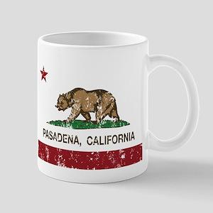california flag pasadena distressed Mugs