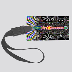 Black-and-Color-Laptop-SKin Large Luggage Tag