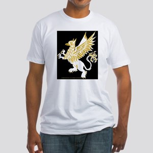 Graphic Gryphon White Gold Fitted T-Shirt