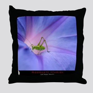 Morning Glory Hopper with MG logo Throw Pillow