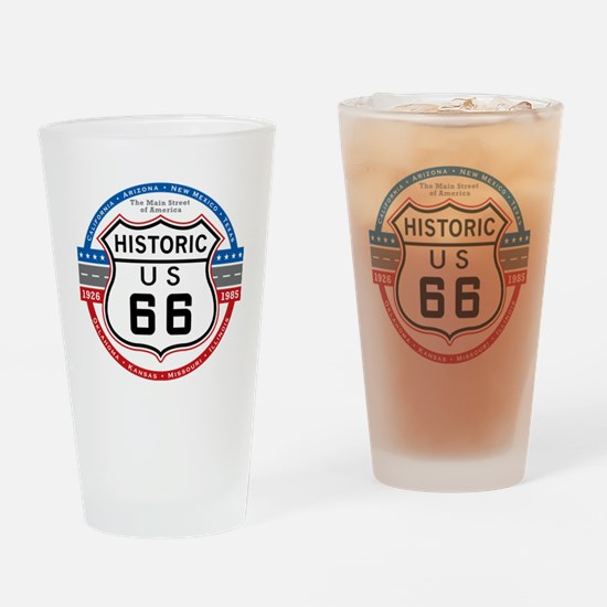 Route_66 Drinking Glass
