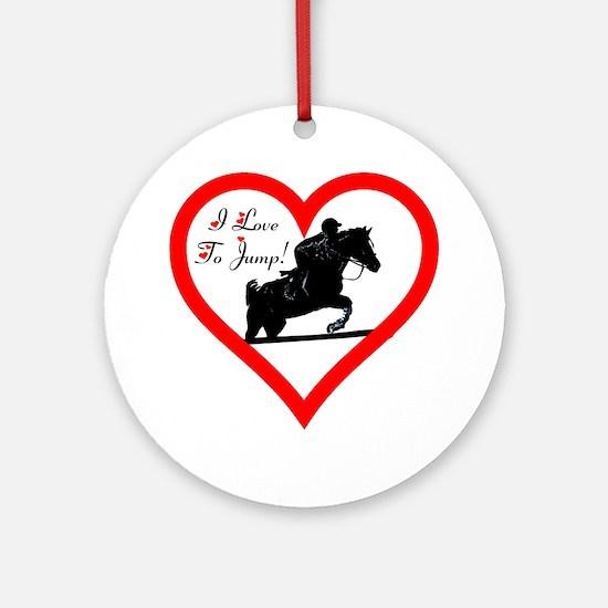 Heart_jump_trans Round Ornament