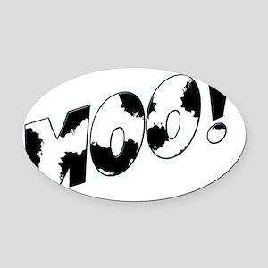 Moo! Oval Car Magnet