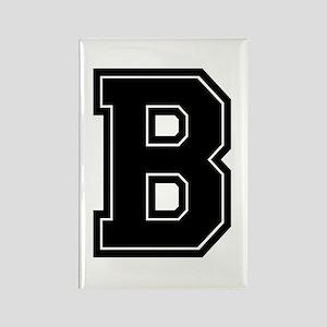 B Varsity Style Font Rectangle Magnet