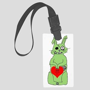 zombie bunnie_valentine Large Luggage Tag