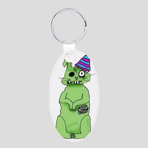 zombie bunnie_new year Aluminum Oval Keychain