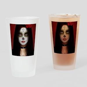 pretty vacant dia de muertos Drinking Glass