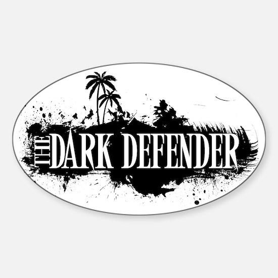 Dark Defender Hat Sticker (Oval)