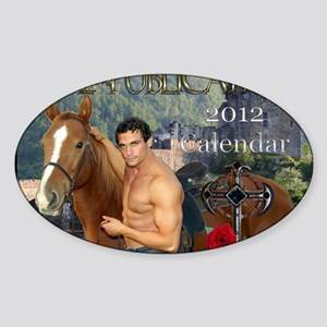 11.5x9 print calendar Sticker (Oval)